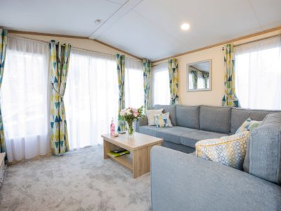 Living room caravan park home Blackpool