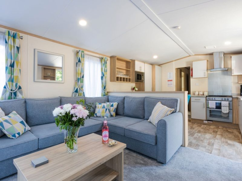 Caravan park living space near Blackpool