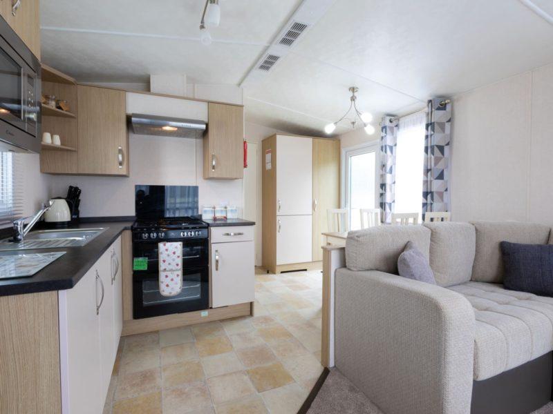 Kitchen caravan park home near Blackpool