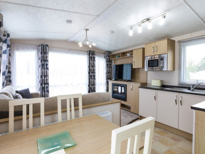 Kitchen caravan park home near Blackpool