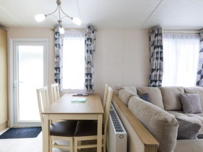 Dining area caravan park home Fylde Coast