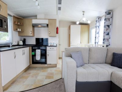 Living room caravan park home Blackpool