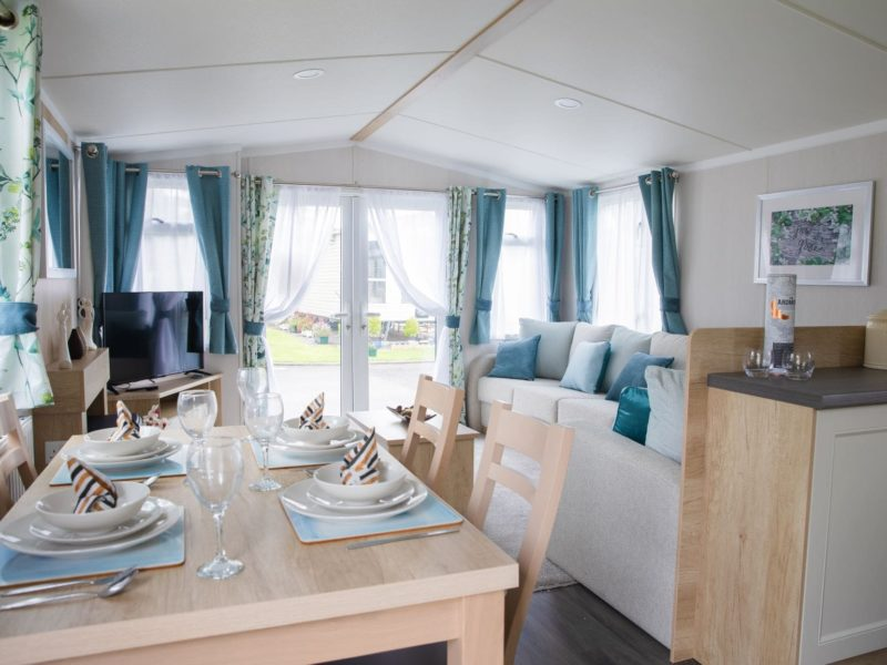 Living room caravan park home near Lytham