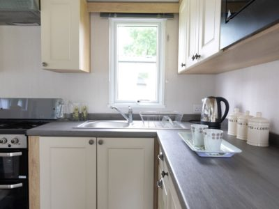Modern kitchen caravan home