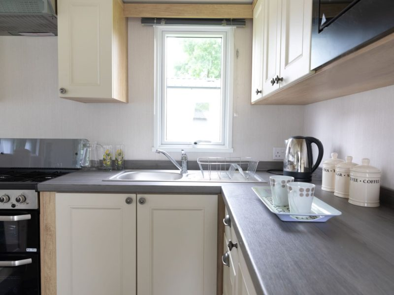 Modern kitchen caravan home