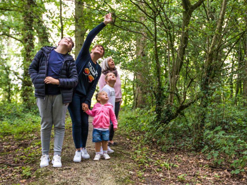 Family enjoying a walk near caravan park Lytham St. Annes
