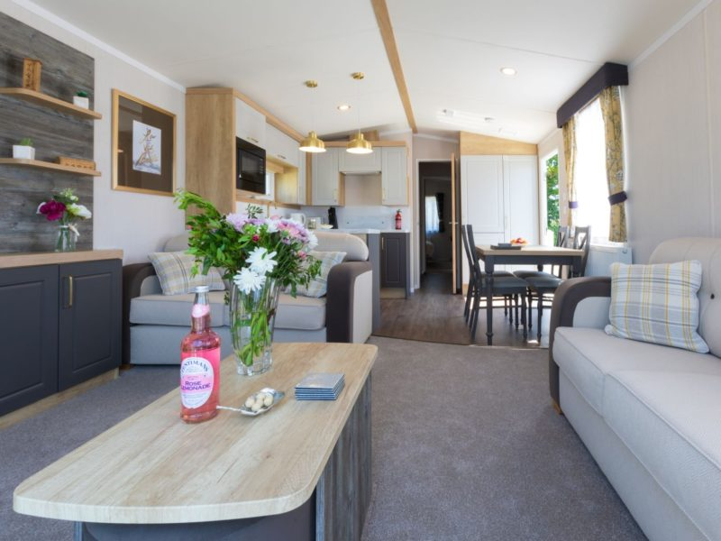 Living room caravan park home Fylde Coast