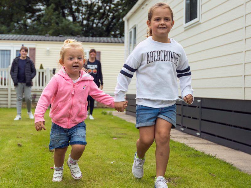 Children Running Mowbreck Park