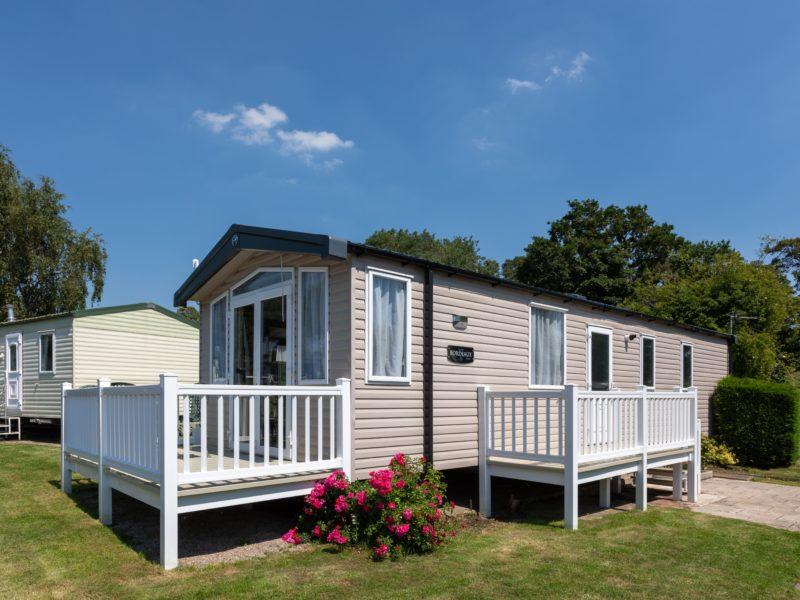 Caravan park home near Blackpool